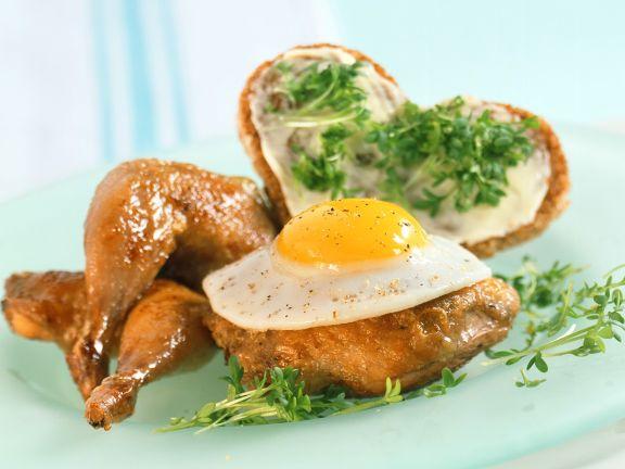 Roast Quail with Egg