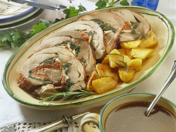 Roast Turkey Roulade with Stuffing