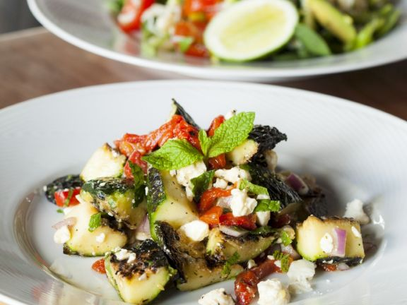 Roast Zucchini and Pepper Salad
