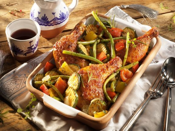Roasted Chicken Legs with Vegetables