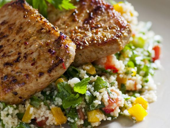 Roasted Pork Loin with Herbed Couscous