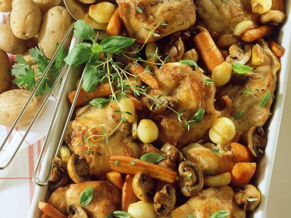 Roasted Rabbit and Vegetables