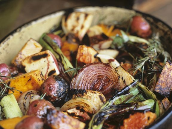 Grilled Mixed Veggies with Herbs