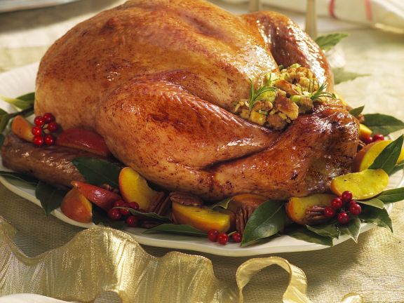 Roasted Turkey with Bread Stuffing