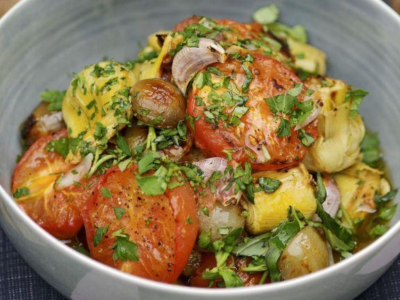 Roasted Vegetable Salad with Basil