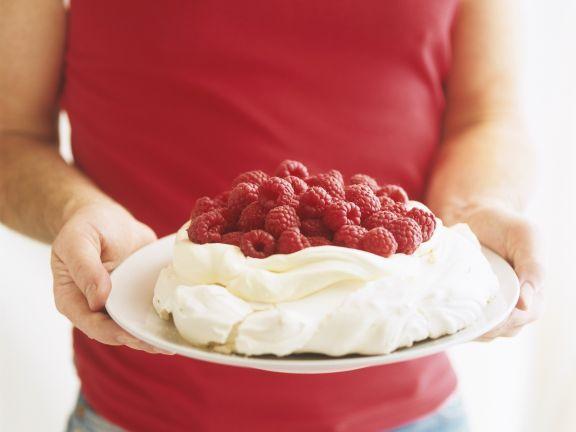 Red Berry and Meringue Dessert