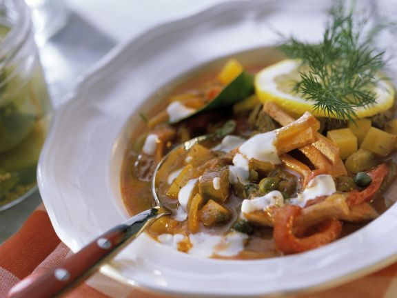 Russian Soup with Sour Cream