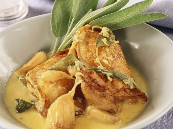 Sage Chicken with Cream Sauce