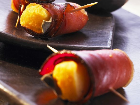 Sage Croquettes Wrapped in Bacon