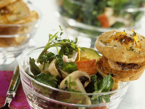 Salad with Crabmeat and Mushrooms