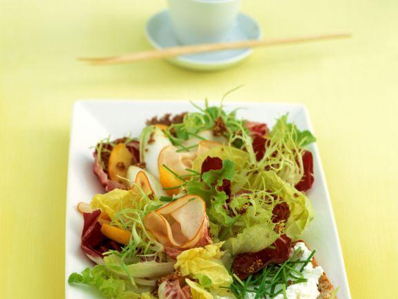 Salad with Turkey Ham