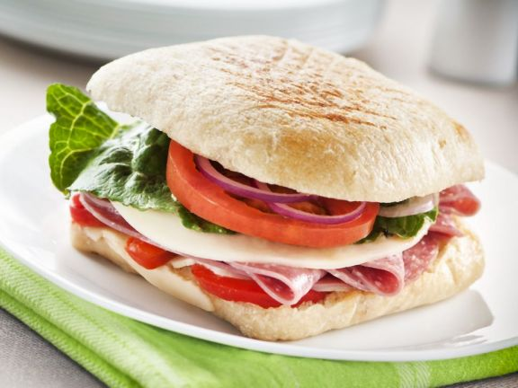Salami and Cheese Ciabatta Rolls
