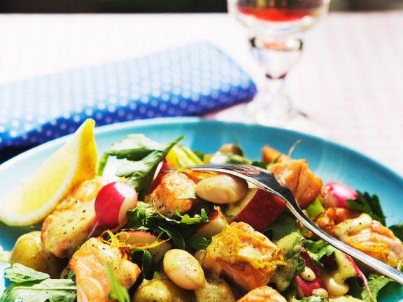 Salmon and Radish Salad