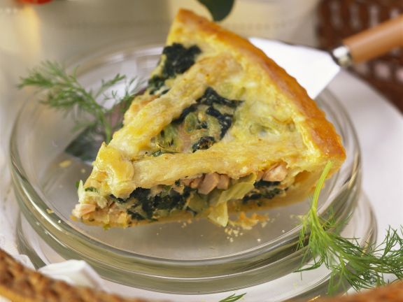 Fish and Spinach Pastry Pie