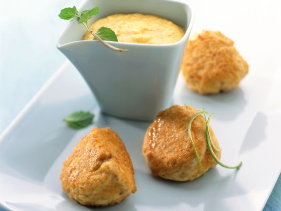 Salmon Cakes with Pineapple Dipping Sauce
