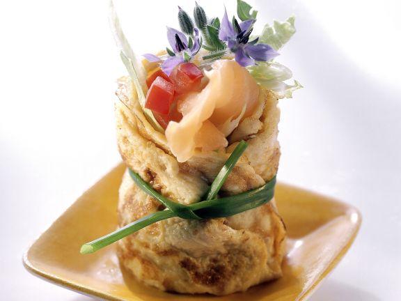 Salmon Omelette Rolls