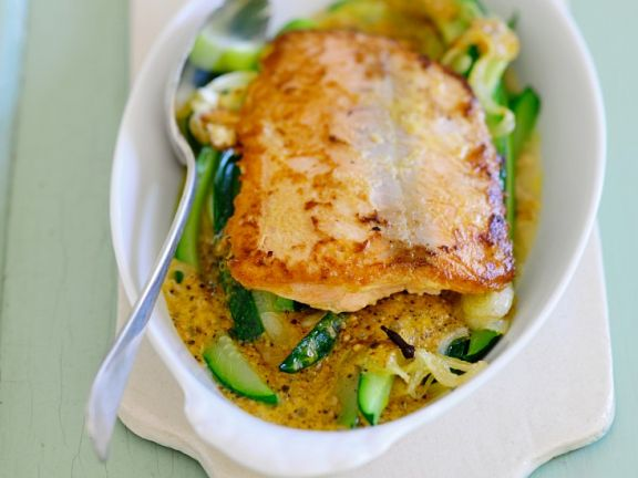 Salmon over Vegetables