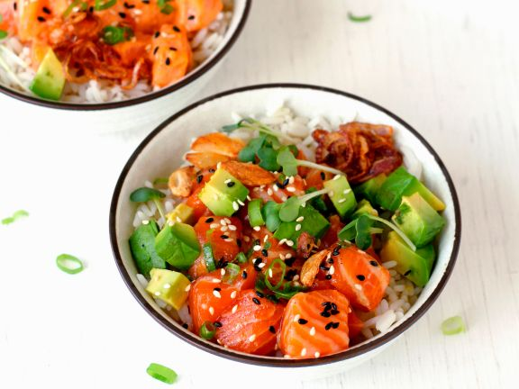 Salmon Poke Bowl with Avocado