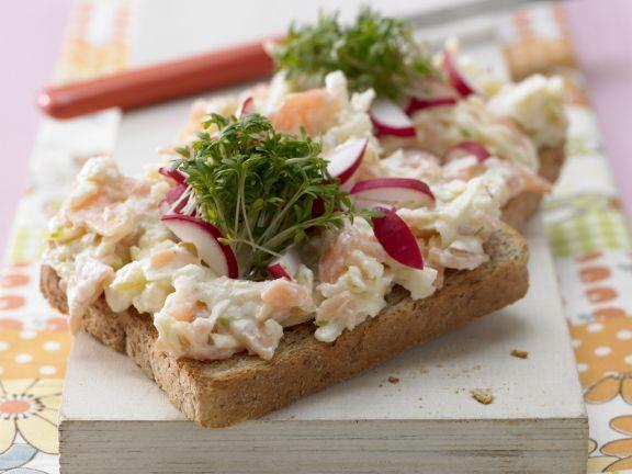 Salmon Tartare on Bread with Cress