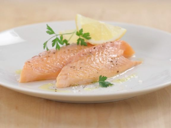 Salmon Trout in Salt Coating