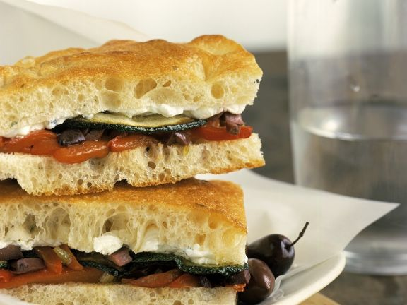 Sandwich with Sauteed Vegetables