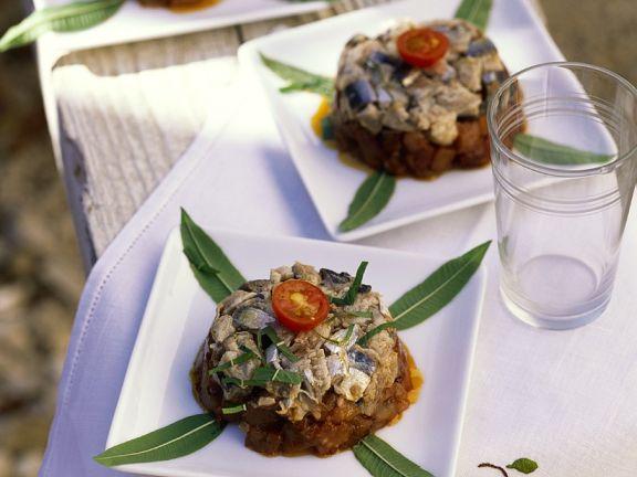 Sardines and Eggplant on Toast