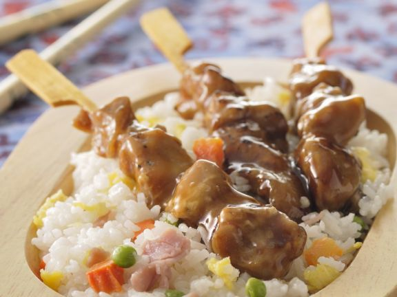 Sauced Chinese Kebabs