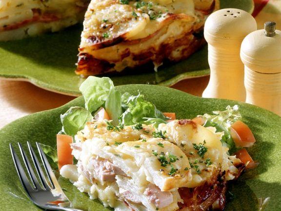 Sausage and Potato Gratin