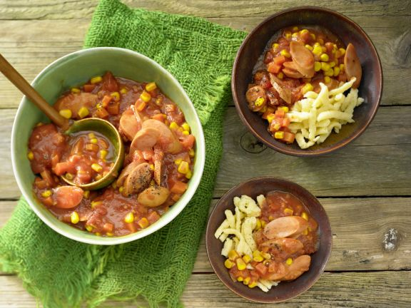 Sausage Stew with Noodles