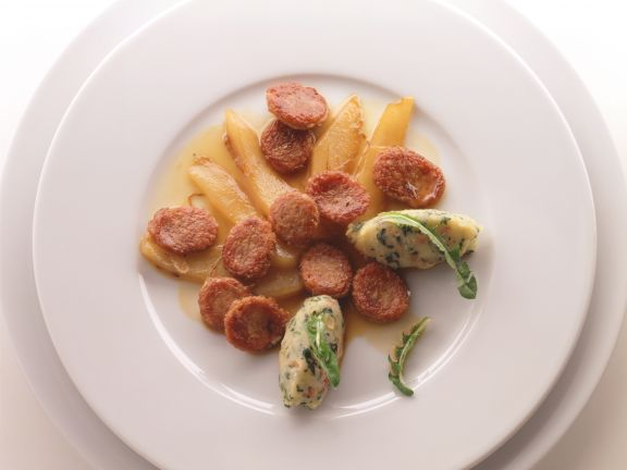 Sausage with Pears and Potatoes