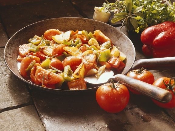 Sauteed Peppers with Herbs