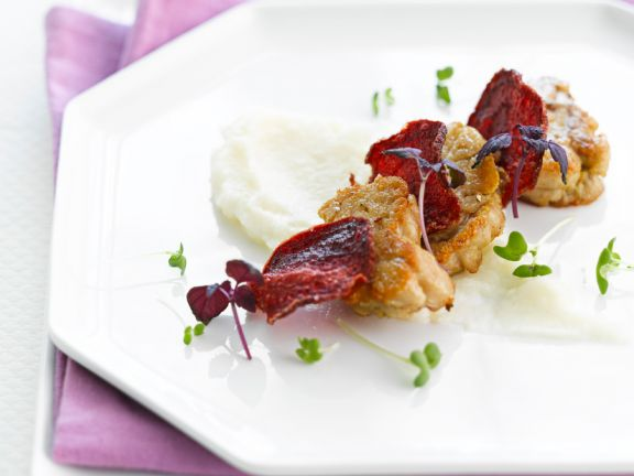 Sautéed Sweetbreads and Beets