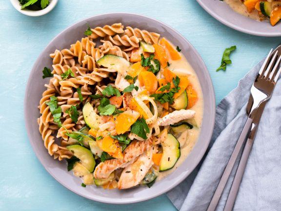 Sauteed Turkey Slices with Zucchini