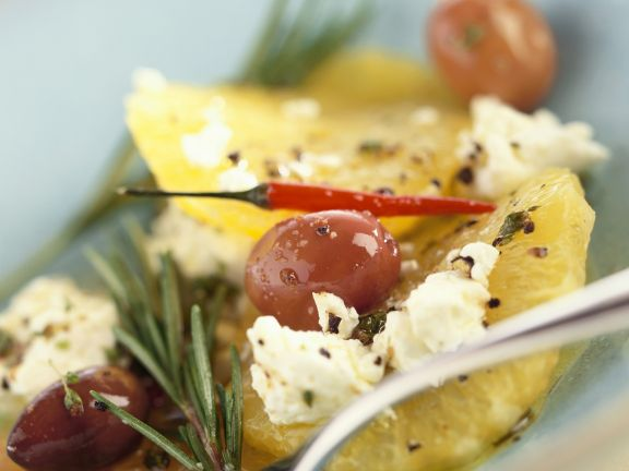 Savory Citrus Salad with Ricotta and Olives
