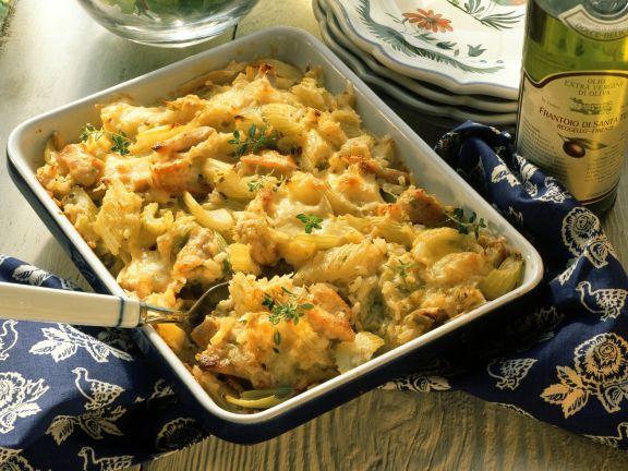 Savory Rice Casserole with Turkey and Celery