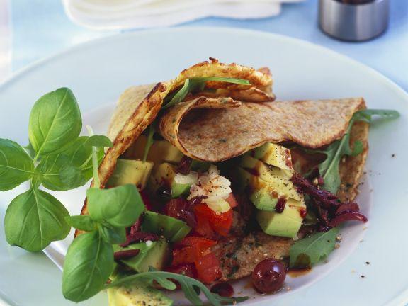 Savoury Salad Crepes