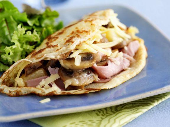 Savoury Ham and Mushroom Crepe