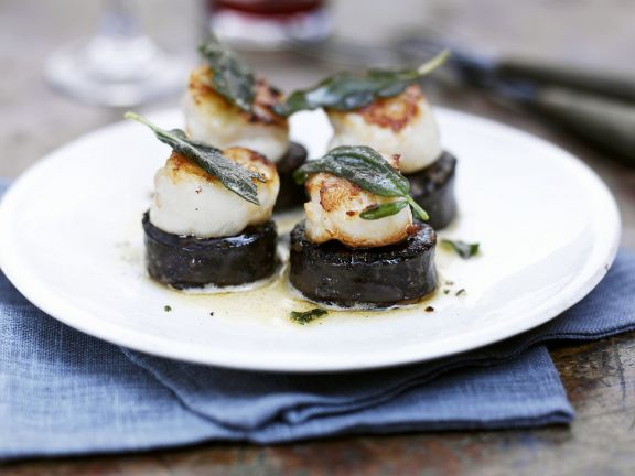 Savoury shellfish appetisers