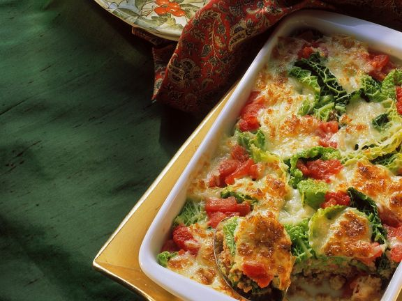 Savoy Cabbage and Ground Meat Casserole