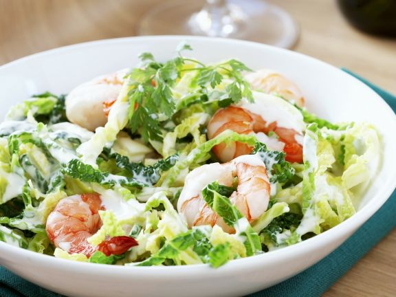 Savoy Cabbage Coleslaw With Prawns Recipe Eat Smarter Usa