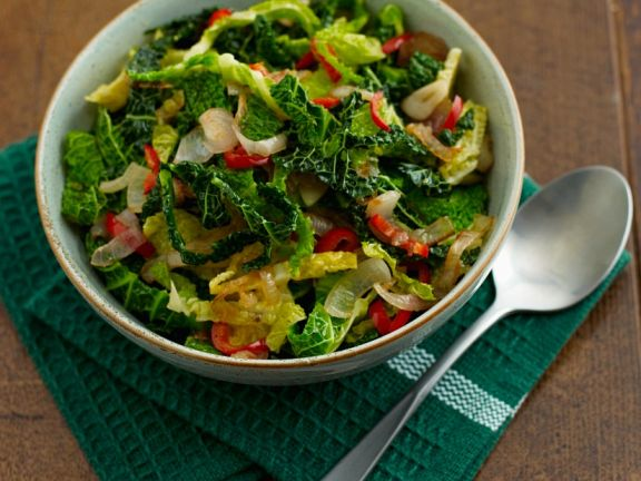 Savoy Cabbage with Chili