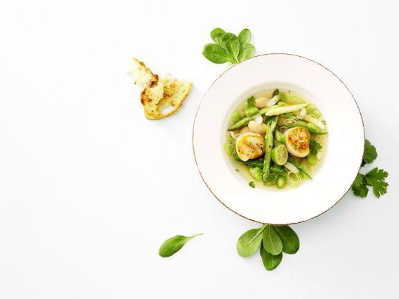 Scallop and White Bean Soup