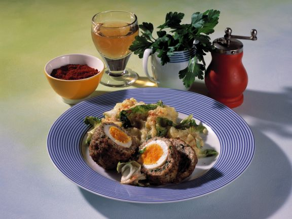 Scotch Eggs with Mashed Potatoes