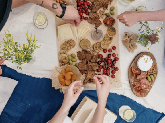 Canva Photo of Cheese Board