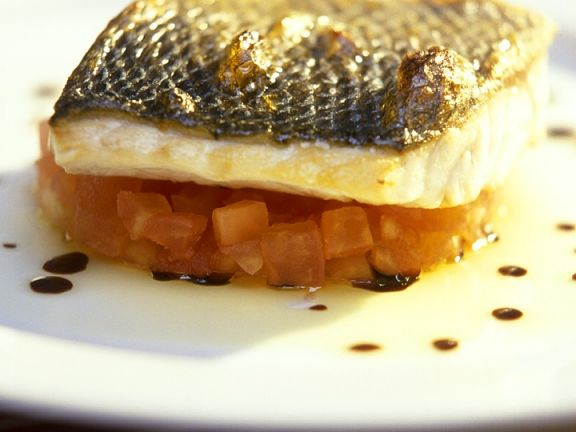 Sea Bass with Tomatoes