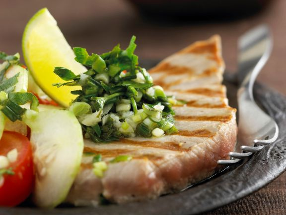 Seared Tuna with Parsley and Lime