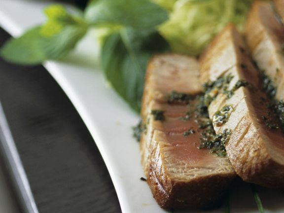 Seared Tuna with Pesto