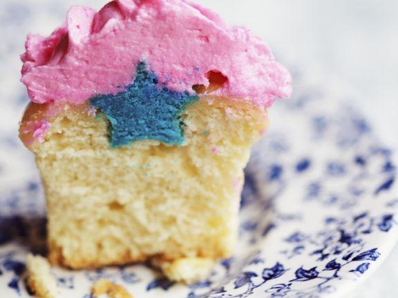 Secret Star Cupcakes with Raspberry Buttercream