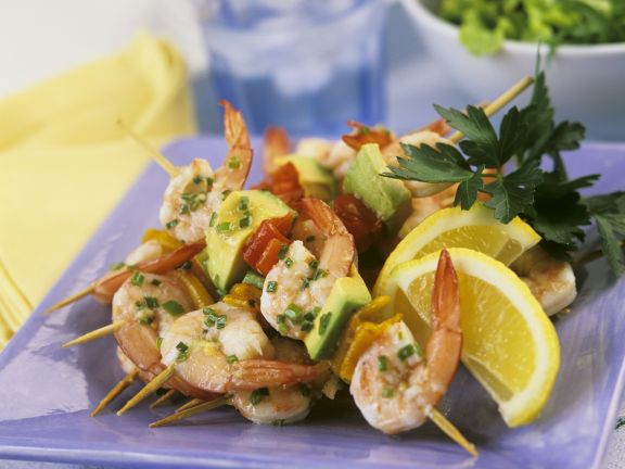 Shrimp and Avocado Skewers