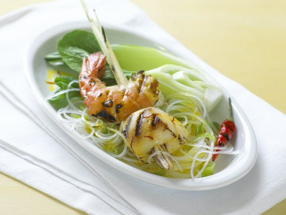 Shrimp and Scallop Skewers